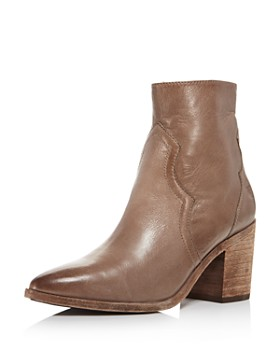 Frye - Women's Flynn Pointed Toe Leather High-Heel Booties