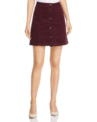 Corduroy A Line Mini Skirt by Three Dots