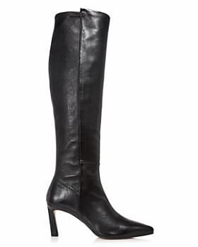 Stuart Weitzman - Women's Demi Pointed Toe Leather High-Heel Tall Boots