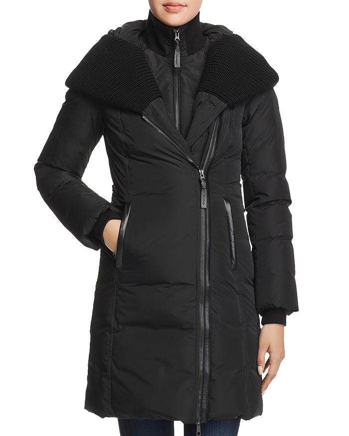 Mackage - Brigid Knit Trim Down Coat - 100% Exclusive d2be1805293