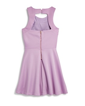Miss Behave - Girls' Heather Dress with Back Cutout - Big Kid