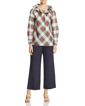 Weekend Max Mara - Dovere Ruffled Plaid Top - 100% Exclusive