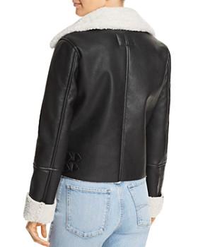 BLANKNYC - Faux Shearling Moto Jacket