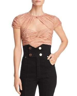 ALICE MCCALL Alice Mccall Sweetly Cropped Top - Neutrals