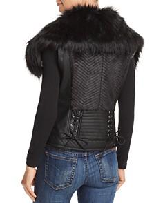 GUESS - Posh Faux Fur & Faux Leather Vest