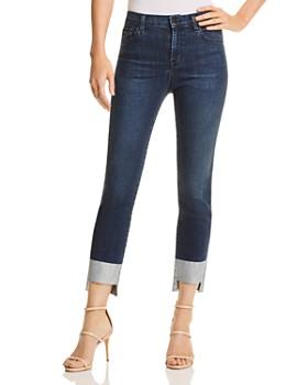 J Brand - Ruby High Rise Crop Cigarette Jeans in Silverpool