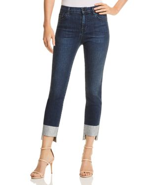 J Brand Ruby High Rise Crop Cigarette Jeans in Silverpool