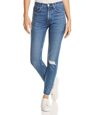 rag & bone/Jean High-Rise Distressed Skinny Jeans in Pamela
