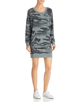 Splendid - Courtside Camo Sweatshirt Dress