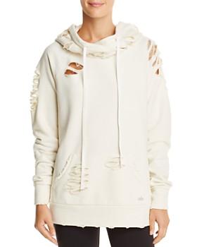 Alo Yoga - Distressed Hooded Sweatshirt