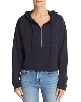 Honey Punch - Half-Zip Cropped Hooded Sweatshirt - 100% Exclusive