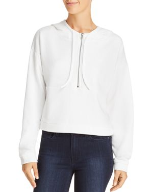 HONEY PUNCH Half-Zip Cropped Hooded Sweatshirt - 100% Exclusive in White