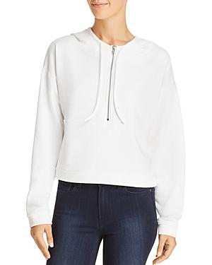 Honey Punch Half-Zip Cropped Hooded Sweatshirt - 100% Exclusive