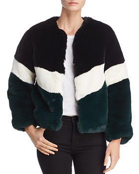 Apparis - Brigitte Color-Blocked Faux-Fur Jacket