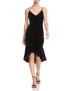 Aqua Ruffle-Hem Velvet Midi Dress - 100% Exclusive 3077449