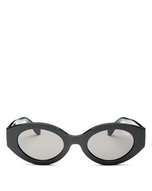See Me Smile 50Mm Cat Eye Sunglasses - Black/ Smoke