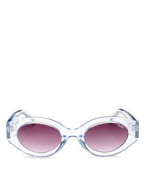 See Me Smile 50Mm Cat Eye Sunglasses - Blue/ Purple