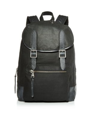 John Varvatos Star Usa Militia Waxed Canvas Backpack