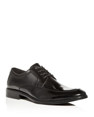 KENNETH COLE MEN'S TULLY LEATHER APRON TOE OXFORDS
