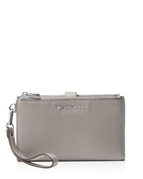 56d54b0b4 MICHAEL Michael Kors - Adele Double Zip Leather iPhone 7 Plus Wristlet ...