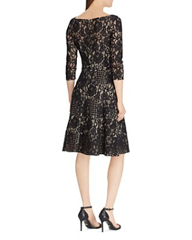 Ralph Lauren - Lace Fit-and-Flare Dress