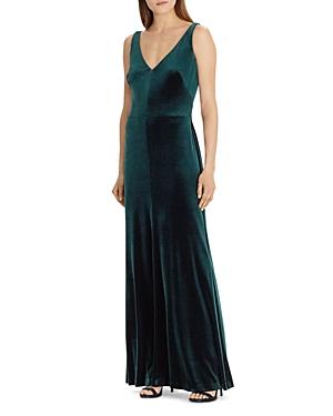 Lauren Ralph Lauren Velvet Sleeveless Gown