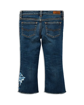 Ralph Lauren - Girls' Embroidered Cropped Flared Jeans - Little Kid