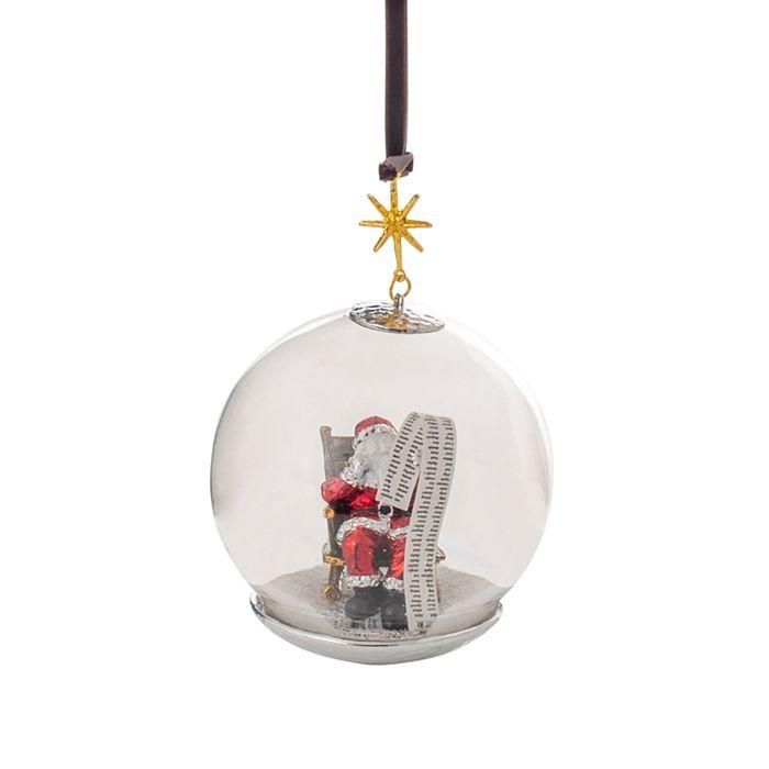 Michael Aram - Santa Snow Globe Ornament