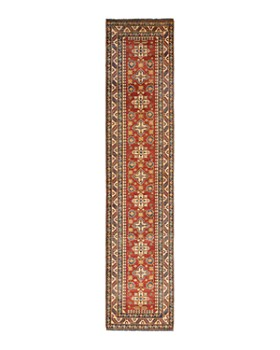 """Solo Rugs - Kazak Grozny Hand-Knotted Runner Rug, 2'9"""" x 13'1"""""""