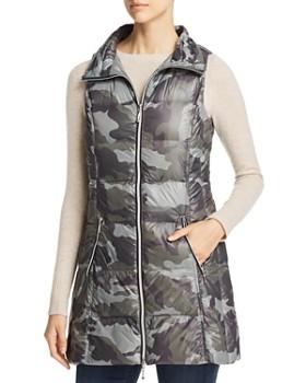 Fillmore - Camo Print Long Down Puffer Vest