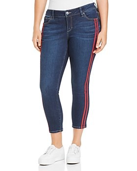SLINK Jeans Plus - Stripe Ankle Jeans in Camila