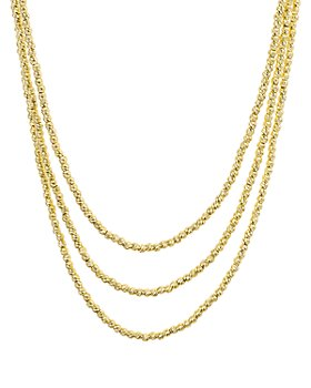 """AQUA - Sterling Layered Sparkle Necklace, 19"""""""
