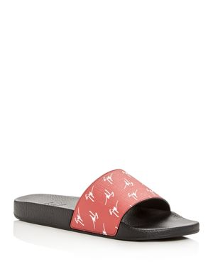 Giuseppe Zanotti Men's Logo Print Slide Sandals