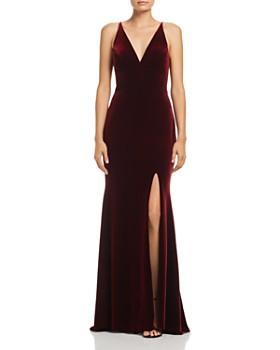 AQUA - Velvet Sleeveless Gown - 100% Exclusive