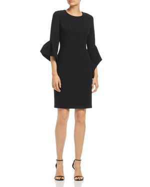 Black Halo Lorie Bell-Sleeve Dress - 100% Exclusive