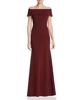 3e13e2cd9307 AQUA - Off-the-Shoulder Scuba Crepe Gown - 100% Exclusive ...