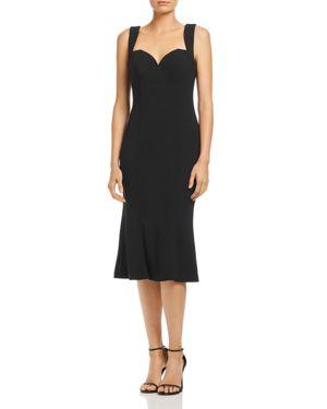 BARIANO Jolene Fluted Sweetheart Dress in Black