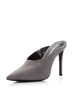 Charles David - Women's Carlyle Pointed Toe Suede High-Heel Mules