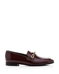 Burberry - Women's Chillcot Patent Leather Apron Toe Loafers