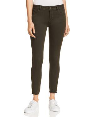 DL1961 Margaux Mid Rise Instasculpt Skinny Jeans in Dark Olive 3071344