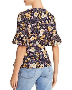 JOA - Floral-Print Wrap Top