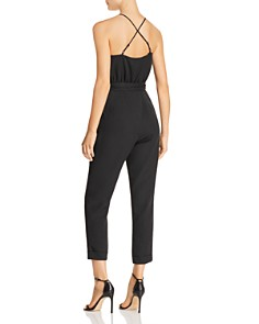 JOA - Cross-Back Cropped Jumpsuit