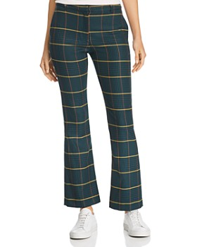 Anine Bing - Cindy Flared Plaid Pants