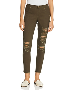 Hue Zeza B by Hue Shredded Denim Skimmer Leggings