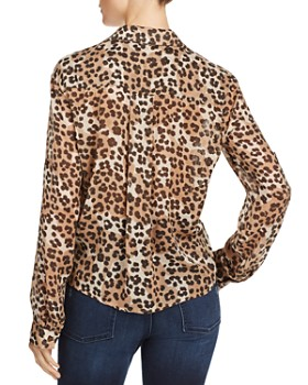 Bella Dahl - Tie-Front Leopard Print Shirt
