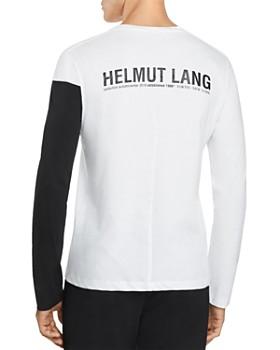 Helmut Lang - Long-Sleeve Color-Block Logo Graphic Tee
