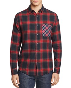 Sovereign Code - Local Legend Mixed-Print Flannel Regular Fit Button-Down Shirt - 100% Exclusive