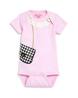 Sara Kety - Girls' Houndstooth Bag Bodysuit, Baby - 100% Exclusive