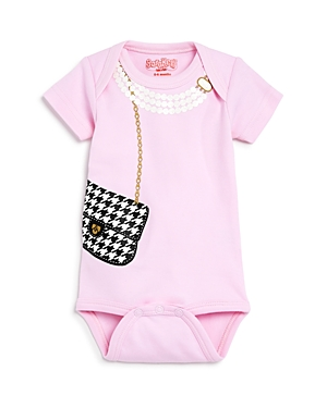 Sara Kety Girls Houndstooth Bag Bodysuit Baby  100 Exclusive