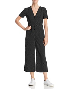 Sadie & Sage - Cropped Wide-Leg Polka Dot Jumpsuit